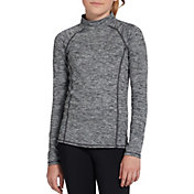 DSG Girls' Cold Weather Compression Mock Neck Long Sleeve Shirt