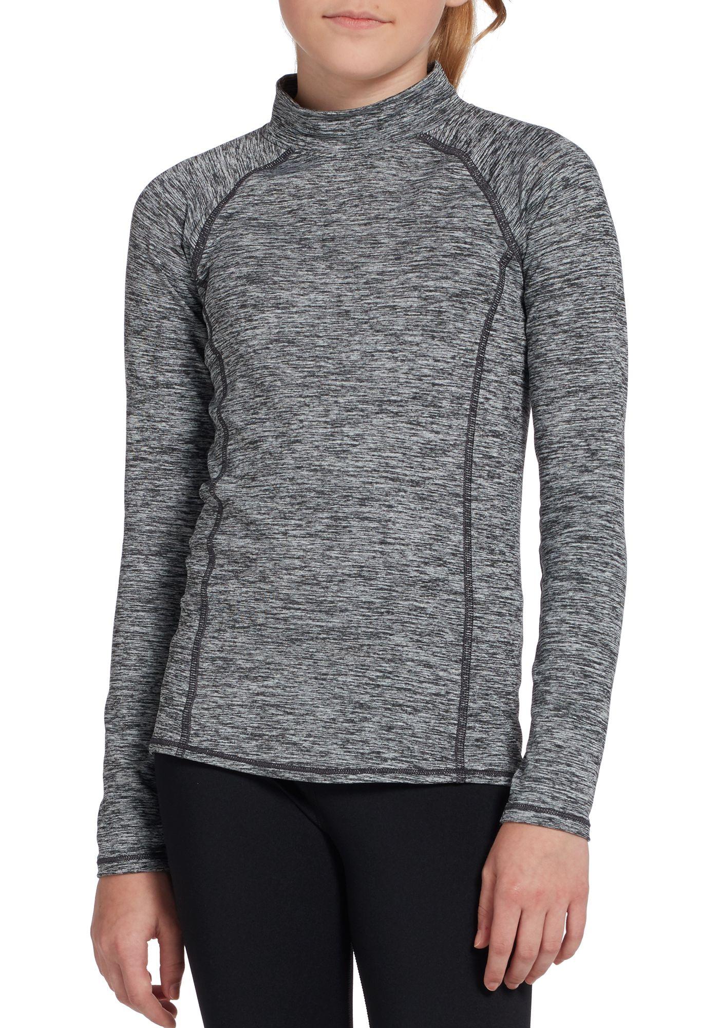 DSG Girls' Cold Weather Compression Mock Neck Long Sleeve Shirt