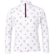 DSG Girls' UV ¼ Zip Printed Golf Jacket