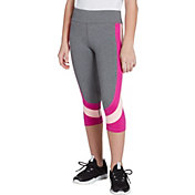 DSG Girls' Heather Side Blocked Capris