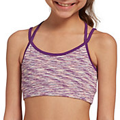 DSG Girls' Heather Performance Strappy Sports Bra