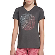 DSG Girls' Performance Graphic T-Shirt in Dhg Basketball