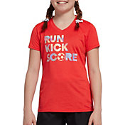 DSG Girls' Performance Graphic T-Shirt in Htr Cherry Ice/Smoothie