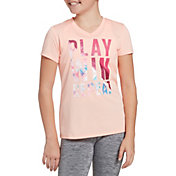 DSG Girls' Performance Graphic T-Shirt in Htr Smoothie Play Repeat