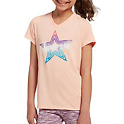 DSG Girls' Performance Graphic T-Shirt in Htr Smoothie