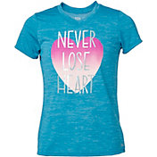 DSG Girls' Performance Graphic T-Shirt in Oasis Twist/Lose Heart