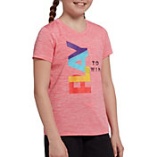 DSG Girls' Performance Graphic T-Shirt in Pnk Lm Smthie Play to Win