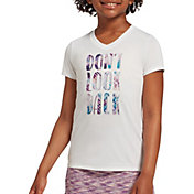 DSG Girls' Performance Graphic T-Shirt in Pure White