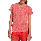 DSG Girls' Keyhole Crew Neck T-Shirt