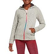 DSG Girls' Everyday Cotton Fleece Full Zip Hoodie