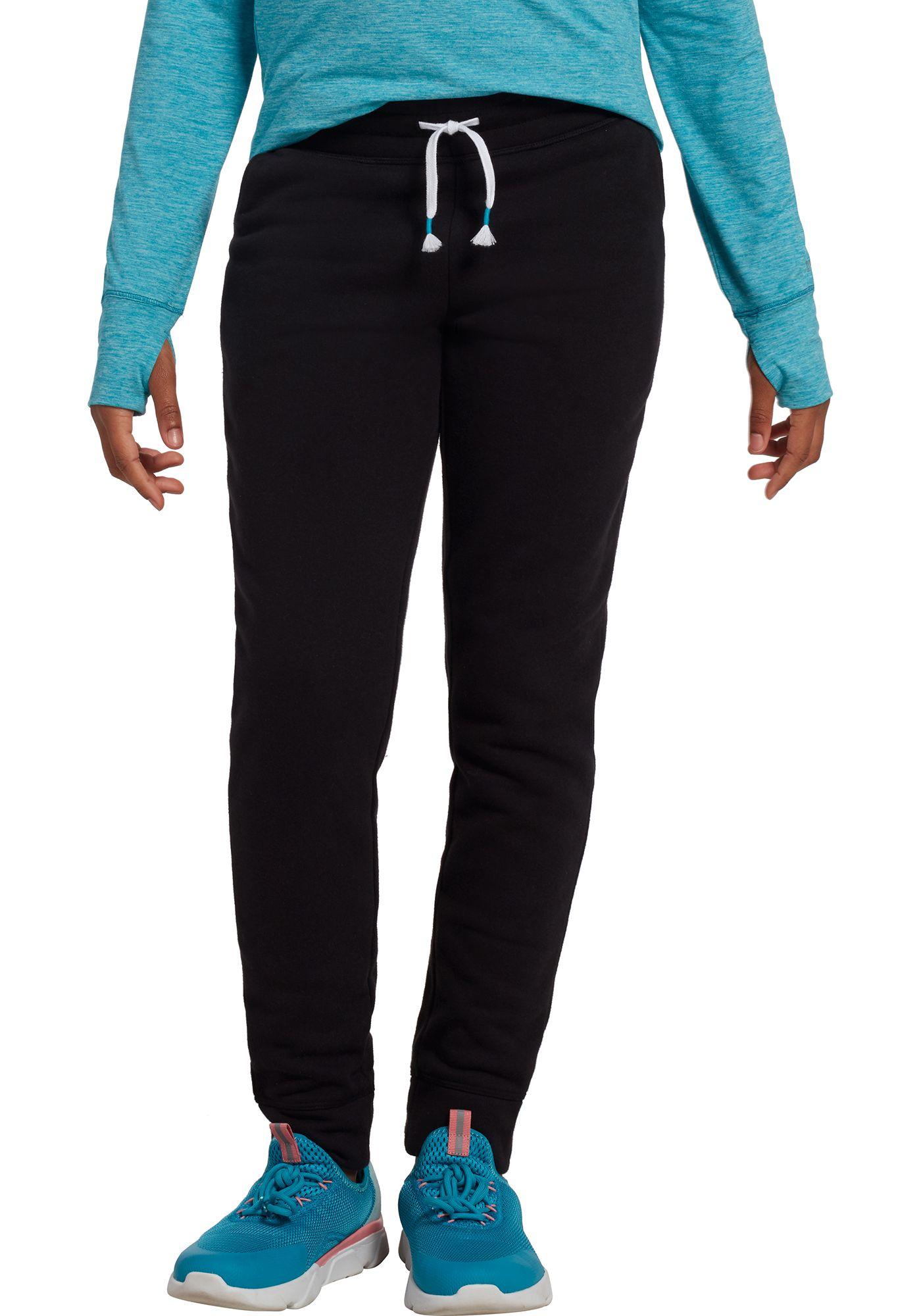 DSG Girls' Everyday Cotton Fleece Cotton Fleece Jogger Pants