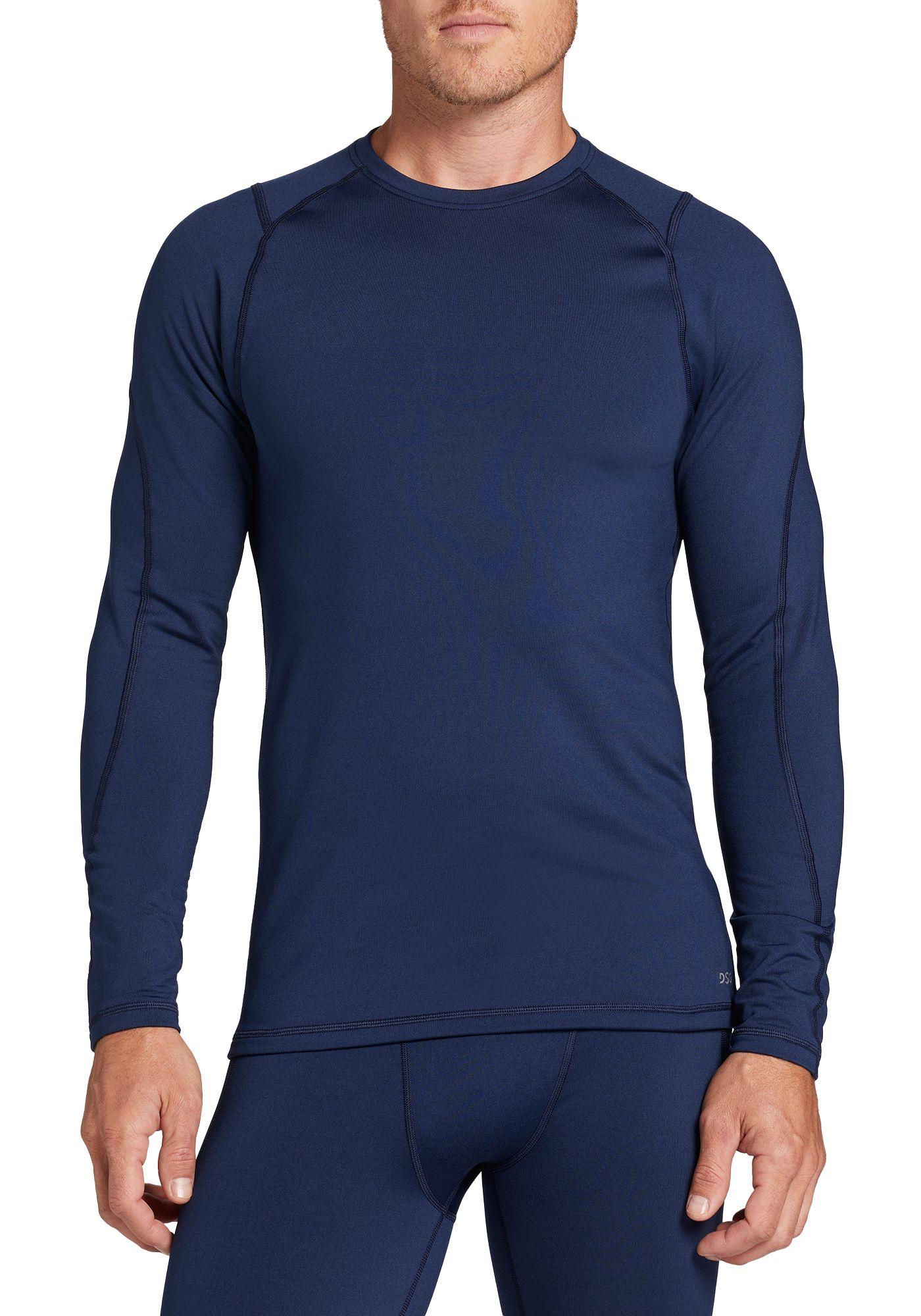 DSG Men's Cold Weather Compression Crewneck Long Sleeve Shirt