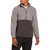 DSG Men's Everyday Heather Polar Fleece 1/2 Zip Pullover