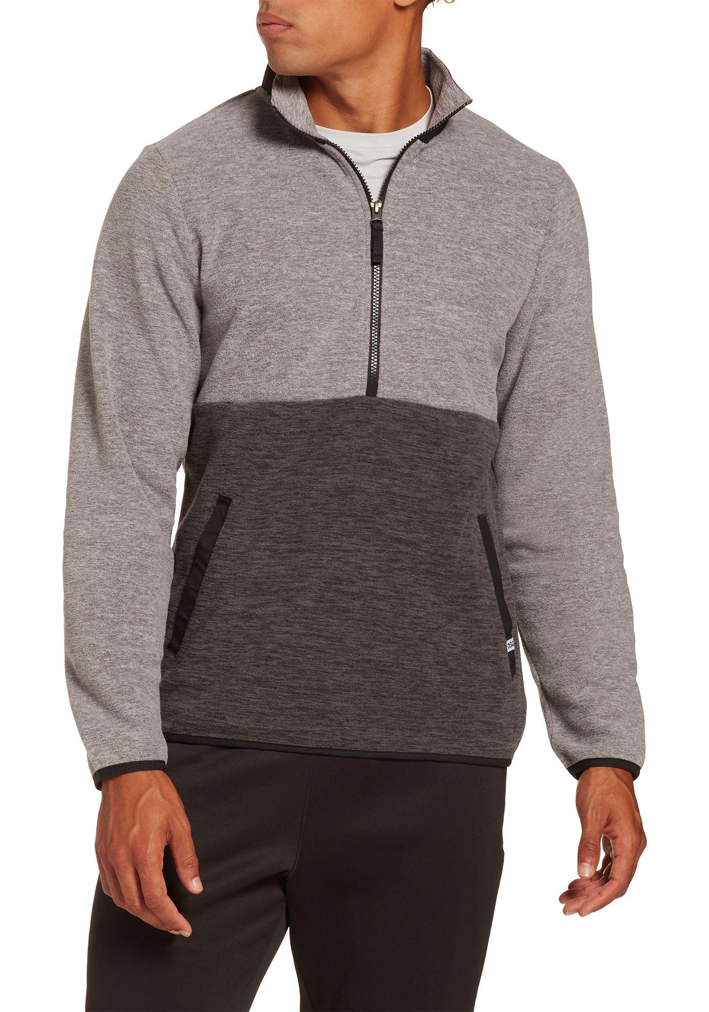 DSG Men's Everyday Heather Polar Fleece 1/2 Zip Pullover