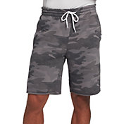 DSG Men's Everyday Cotton Fleece Shorts in Twill Camo Gray