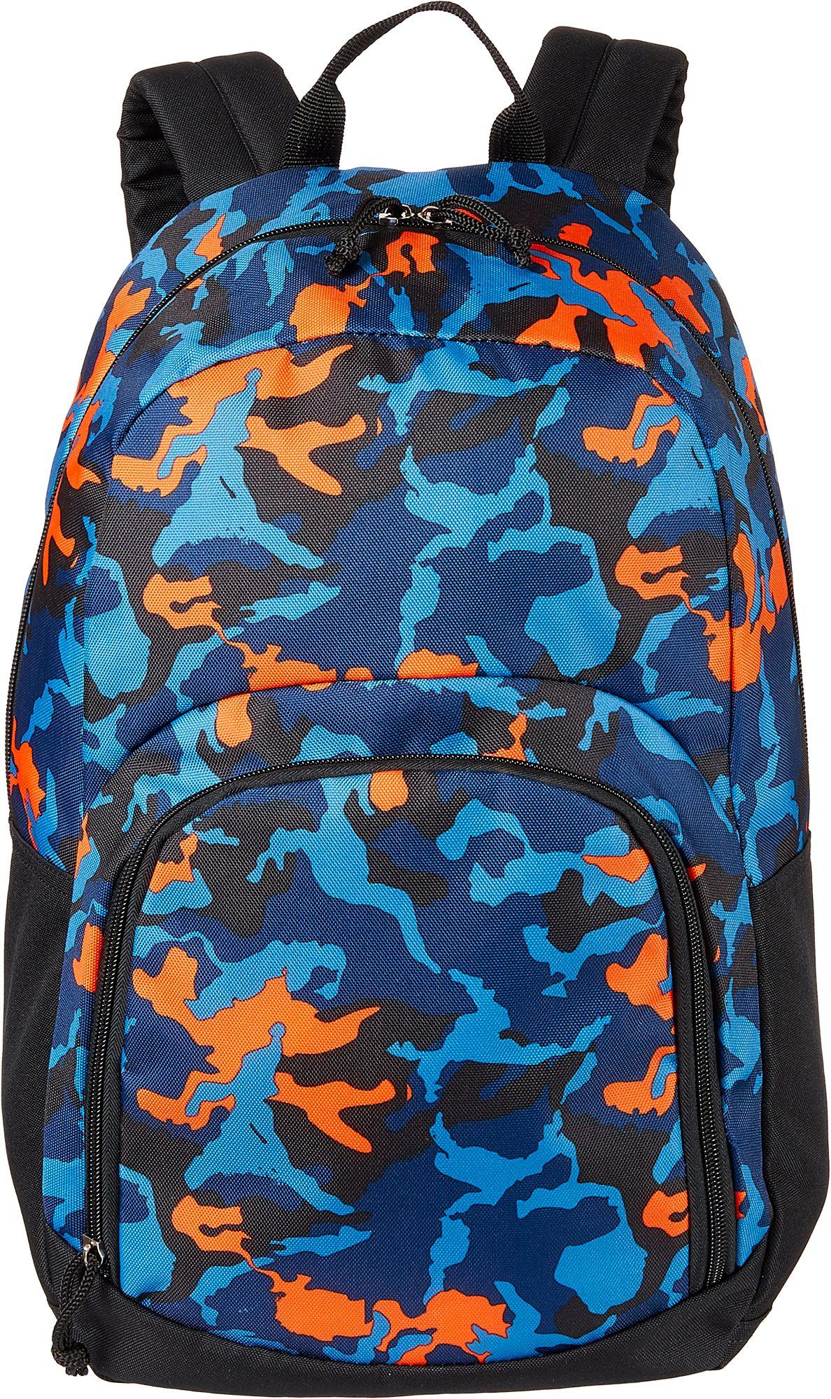DSG Adventure Backpack, Camo/Black/Blue/Orange