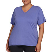 DSG Women's Plus Size Core Cotton Jersey V-Neck T-Shirt in Evening Sky