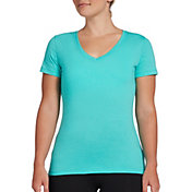 DSG Women's Core Cotton Jersey V-Neck T-Shirt in Atlantis Heather