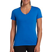 DSG Women's Core Cotton Jersey V-Neck T-Shirt in Blue Blaze