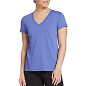 DSG Women's Core Cotton Jersey V-Neck T-Shirt in Evening Sky