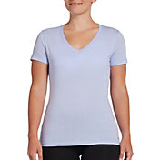 DSG Women's Core Cotton Jersey V-Neck T-Shirt in Icy Purple Heather