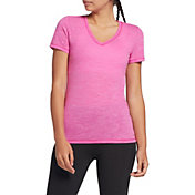 DSG Women's Core Cotton Jersey V-Neck T-Shirt in Lush Berry Slub