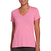 DSG Women's Core Cotton Jersey V-Neck T-Shirt in Pink Power