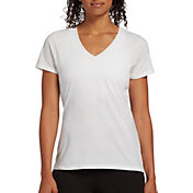 DSG Women's Core Cotton Jersey V-Neck T-Shirt in Pure White