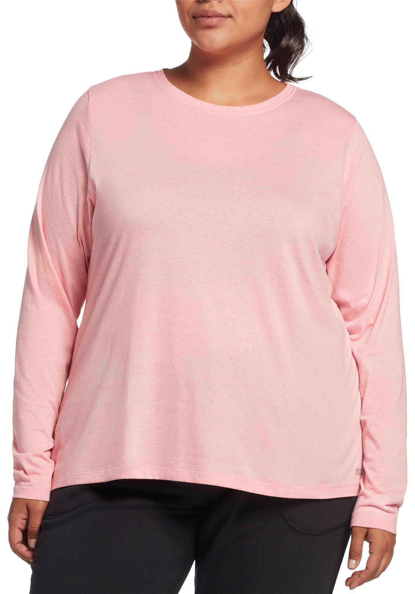 DSG Women's Plus Size Core Cotton Jersey Long Sleeve Shirt
