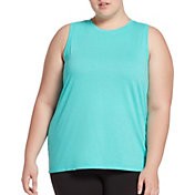 DSG Women's Plus Size Core Cotton Jersey Tank Top in Atlantis Heather