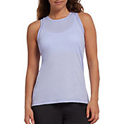 DSG Women's Core Cotton Jersey Tank Top in Icy Purple Heather