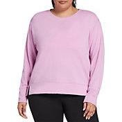 DSG Women's Plus Size Fleece Crewneck Sweatshirt