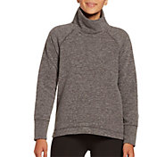 DSG Women's Polar Fleece Funnel Neck Heather Sweatshirt