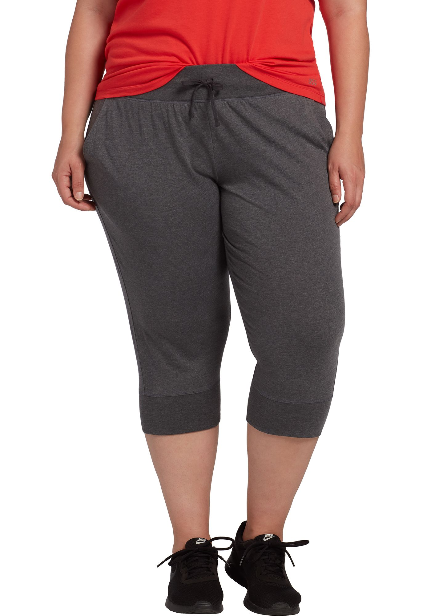 DSG Women's Plus Size Cotton Jersey Jogger Capris