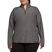 DSG Women's Plus Size Performance 1/4 Zip Long Sleeve Shirt
