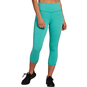 DSG Women's Performance Capris in Atlantis Heather