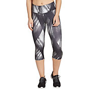 DSG Women's Performance Capris in Hyper Black And White