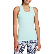 DSG Women's Performance Tight Fit Tank Top in Blue Tint