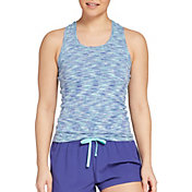 DSG Women's Performance Tight Fit Tank Top in Capri Sea