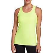 DSG Women's Performance Tight Fit Tank Top in Hi Vis Yellow