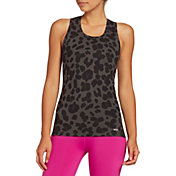 DSG Women's Performance Tight Fit Tank Top in Leopard
