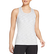 DSG Women's Performance Tight Fit Tank Top in Pure White/Frosted Grey