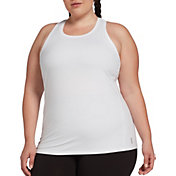 DSG Women's Plus Size Performance Tight Fit Tank Top in Pure White