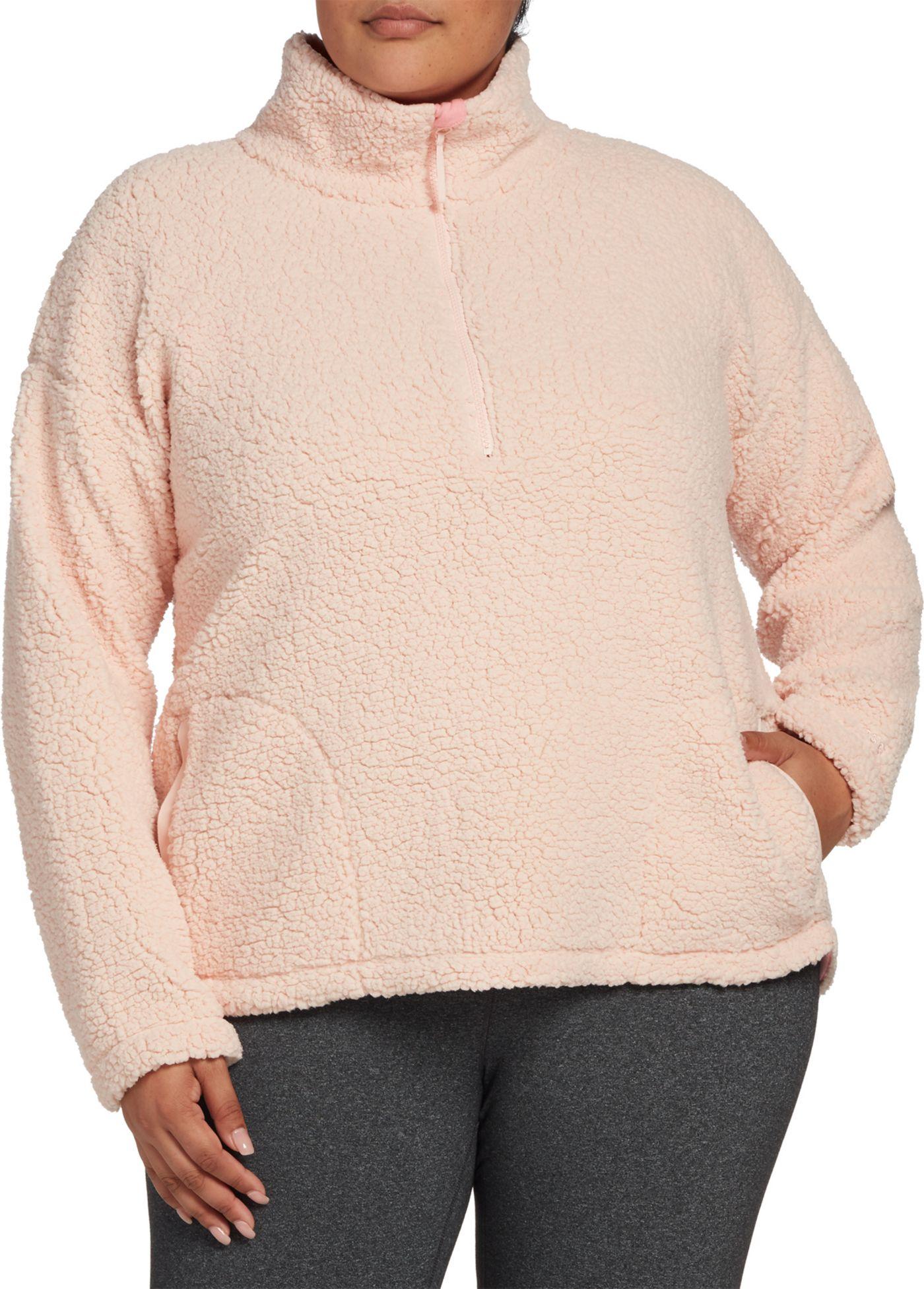 DSG Women's Plus Size Sherpa 1/4 Zip Pullover