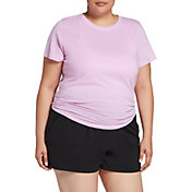 DSG Women's Plus Size Performance Split Back Cotton T-Shirt