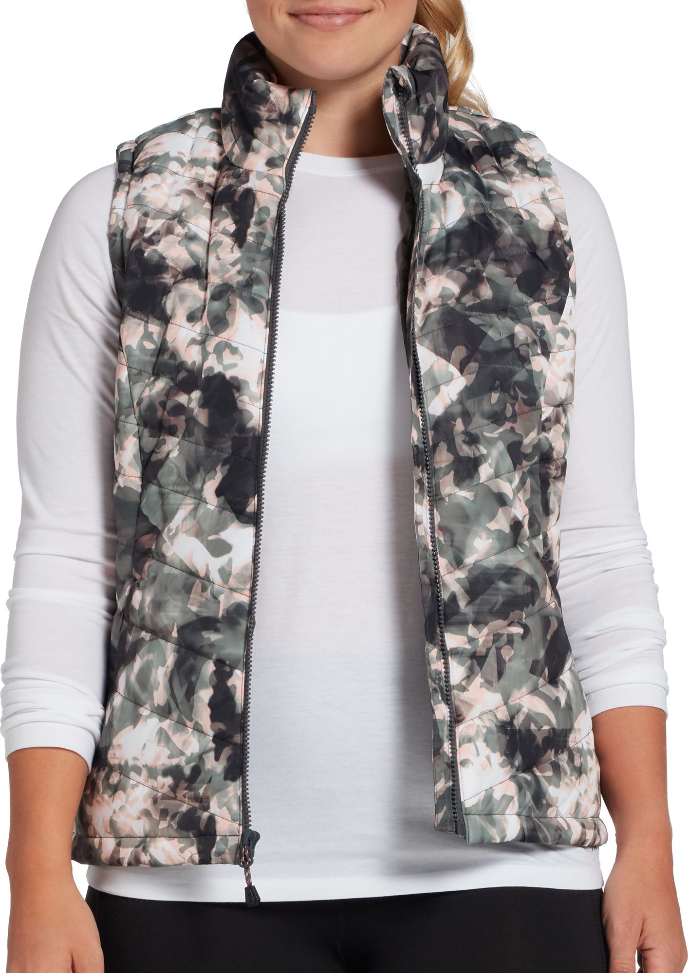 DSG Women's Printed Insulated Vest, Size: Medium, Elemental Camo thumbnail