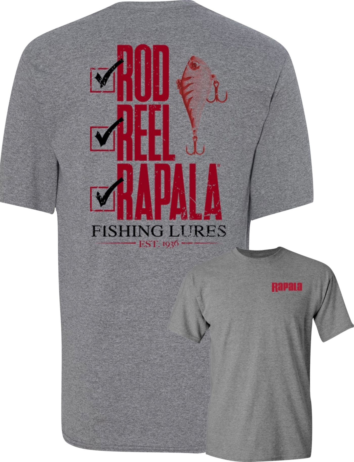 Rapala Men's Rod, Reel, Rapala T-Shirt
