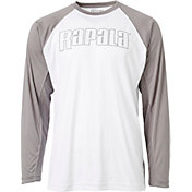 Rapala Men's Outlined Logo Two Tone Long Sleeve Raglan Shirt