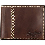Rawlings Baseball Stitch Leather Bi-Fold Wallet