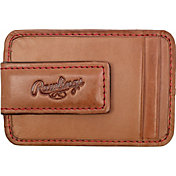 Rawlings Baseball Stitch Leather Front Pocket Magnetic Wallet